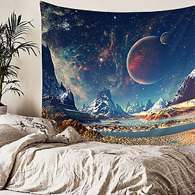 Solar System Tapestry Planets Arround Sun in Universe Wall Hanging Space Tapestries Party Wall Decor
