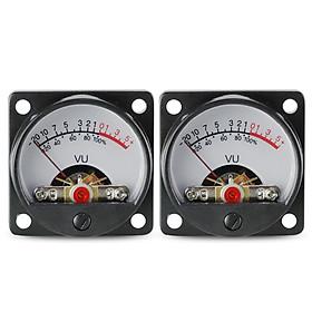 2*500μA Panel VU Meters Double Volume Unit Level Meter Indicator with Back Light Plastic Shell 650Ohm Internal DC