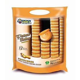 Bánh quy sandwich đậu phộng Julie's 360g (gói lớn cho gia đình)