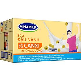 Thùng 12 Hộp Sữa Đậu Nành Canxi Không Đường Vinamilk (1L)