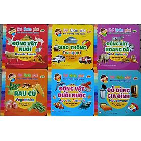 Bộ 6 cuốn bé khám phá môi trường xung quanh - song ngữ Việt - anh