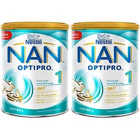 Bộ 2 Sữa Bột Nestlé Nan Optipro 1 Lon 800G (Công Thức Bổ Sung HM-O)