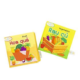 Combo 2 cuốn sách Lalala baby chủ đề Rau của và Hoa quả made in Vietnam