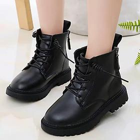 Giày bốt cổ cao cho bé trai bé gái 3 - 12 tuổi phong cách Hàn Quốc GC49