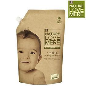 Nước Giặt Dịu Nhẹ Cho Bé Nature Love Mere Original Túi 1.3L