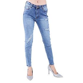 Hình đại diện sản phẩm Quần Jeans Nữ Rách Cào Cao Cấp JNR001