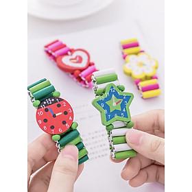 Vòng đeo tay trang trí cho bé - Vòng đeo tay đồng hồ bằng gỗ dễ thương