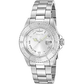 Invicta Women's 12819 Pro Diver Silver Dial Diamond Accented Watch