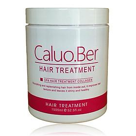 Dầu hấp ủ tóc Caluo.Ber Collagen Hair Spa Treatment siêu phục hồi mềm mượt tóc Pháp 1500ml-0