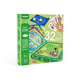 Bộ trò chơi tổng hợp 32 trong 1 các loại cờ chính hãng Mideer Classic Game 32in1