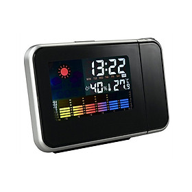 Đồng Hồ Báo Thức Màn Hình LCD Kèm Máy Chiếu Kỹ Thuật Số Với Đèn Nền LED