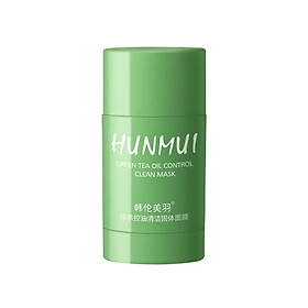 Green Tea Purifying Mask Solid Clay Stick Mask Moisturizing Deep Cleansing Solid Mask Oil Control Pore Refining for All