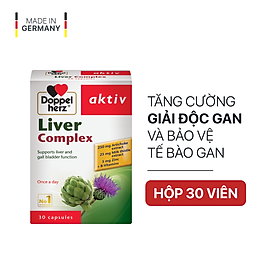 Viên uống hỗ trợ giải độc gan, hạ men gan Doppelherz Aktiv Liver Complex (Hộp 30 viên)