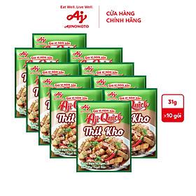[COMBO 25] Lốc 10 Thịt kho Aji-Quick 31g
