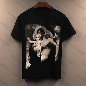 Áo thun tay lỡ hình Thiên Chúa, áo phông cotton nam nữ unisex