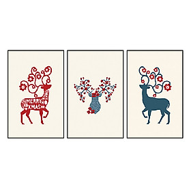 Hình đại diện sản phẩm Bộ 3 Khung Tranh Treo Tường Carehouse Canvas Họa Tiết CVCXJ45-HOATIET (40 x 60 cm)