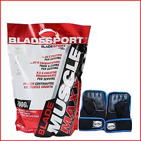 Sữa tăng cân – tăng cơ nhanh Blade Muscle Maxx 7000g (15.4Lbs) – Hỗ trợ tăng cân, tăng sức mạnh, phát triển cơ bắp dành cho người chơi thể hình và thể thao - Kèm quà tặng - Vị Caramel Cappuccino – Thương hiệu Châu Âu, nhập khẩu chính hãng