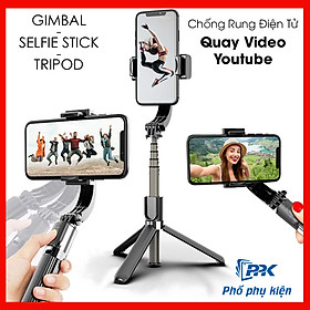 Gậy chống Rung Điện Thoại, Có Bluetooth Gimbal L08 Gậy Chụp Hình Quay Video Chống Rung Cao Cấp
