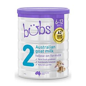 Sữa dê Bubs số 2 (800gr) – Sữa bột chính hãng nhập khẩu Úc cho bé 6 tháng – 1 tuổi
