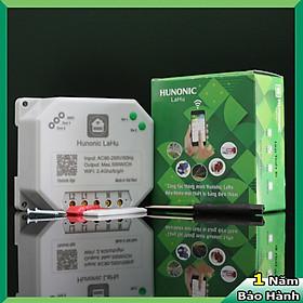 Công tắc ĐIỀU KHIỂN TỪ XA bằng điện thoại Hunonic Lahu 2 kênh 500W/kênh + Hẹn giờ thông minh | Công nghệ 4.0