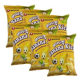 Combo 6 Gói Bánh Snack Chuối Nongshim (45g / Gói)