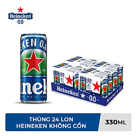 Thùng 24 lon bia không cồn Heineken 0.0 (330ml/lon)