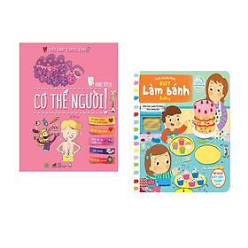 Combo 2 cuốn Hỏi đáp cùng em - Cơ thể người + Sách chuyển động - Busy - Baking - Làm bánh