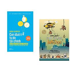 Combo 2 cuốn sách: Con đường tự do tài chính + Làm quen kinh tế học qua biếm họa tập 2 ( kinh tế vĩ mô)