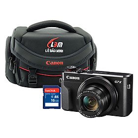 Máy ảnh Canon G7X Mark II - Lê Bảo Minh - Tặng thẻ 16GB + Túi - Hàng Chính Hãng
