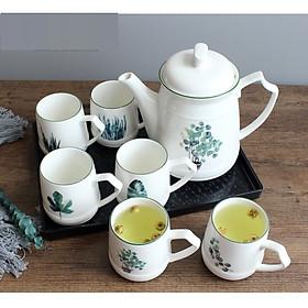 Bộ ấm trà bằng sứ cao cấp