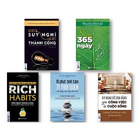 Bộ Sách Làm Chủ Thói Quen Làm Chủ Thành Công kt ( Rich Habits – Thói quen thành công của những triệu phú tự thân , 10 phút tĩnh tâm – 71 thói quen cân bằng cuộc sống hiện đại , Kỹ năng để cân bằng giữa công việc và cuộc sống ,Gieo suy nghĩ gặt thành công ,  Sống 365 ngày một năm  )