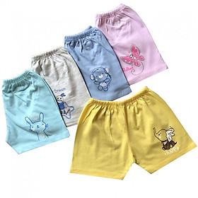 Hình đại diện sản phẩm Combo 10 quần đùi sơ sinh cotton màu Thái Hà Thịnh ( Tặng 1 Yếm ăn dặm JOU)
