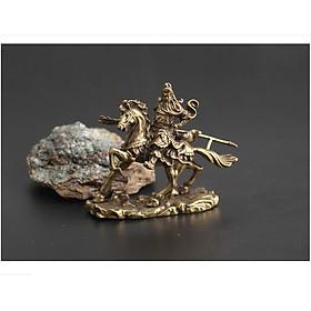 Tượng Đồng Quan Công Vân Trường, Quan Vũ Cưỡi Ngựa Trấn Trạch Trừ Tà TMT COLLECTION Bằng Đồng Thau TQCCN25