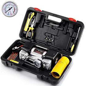 Bộ máy bơm lốp đa năng ô tô kèm phụ kiện sửa chữa chuyên dụng HD-506