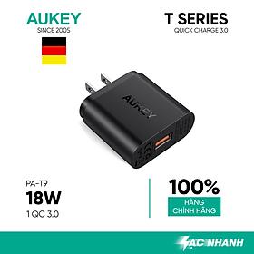 Adapter Sạc Aukey PA-T9 1 Cổng USB - Hàng Chính Hãng