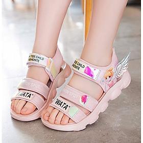 Sandal bé gái - giày đi học cho bé gái ( Mẫu mới nhất in hình công chúa ) HQ059
