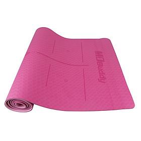 Thảm tập yoga-Thảm yoga cao cấp-thảm tập yoga có vân chống trượt-Thảm tập yoga không mùi chất liệu TPE dày 6mm - 3 màu