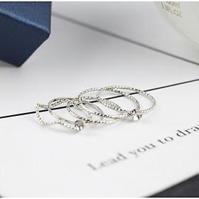 Bộ nhẫn nữ thời trang cá tính Hàn Quốc phong cách tặng thẻ Vcone