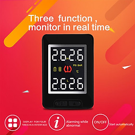 For Toyota CAREUD U912 Auto Wireless TPMS Tire Pressure Monitoring System with 4 Sensors LCD Display Embedded Monitor