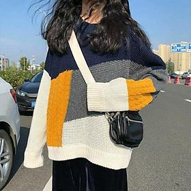 Áo len nữ retro thu đông thiết kế phong cách
