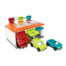 Gara để xe 3 màu dòng Battat B.Toys - Lam-lục-đỏ (kiểu mẫu ngẫu nhiên)