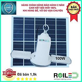 Đèn led thả trần năng lượng mặt trời 100W, treo trong nhà sáng trên 12h RT-100W
