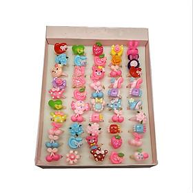 Combo 10 nhẫn nhựa cho bé gái dễ thương và xinh xắn (Giao mẫu ngẫu nhiên)