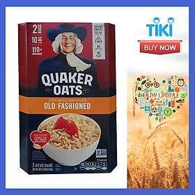 Yến mạch Quaker Oats nguyên chất 100% nhập khẩu từ Mỹ - Chính Hãng