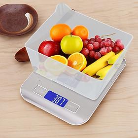 Cân tiểu ly điện tử mức cân 5kg DH2012 ( Tặng kèm móc dán tường nhà bếp treo đồ tiện lợi )