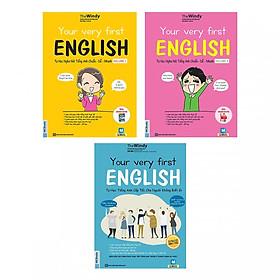 Combo Trọn Bộ 3 Cuốn Your Very First English - Tự Học Nghe Nói Tiếng Anh (tặng sổ tay mini dễ thương KZ)