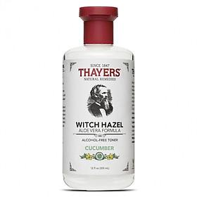 Nước Hoa Hồng Không Cồn Thayers Hương Dưa Leo - Thayers Witch Hazel Cucumber 355ml (Dành cho da hỗn hợp)