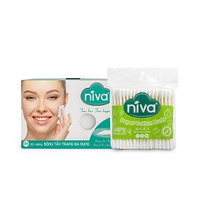 Combo 01 hộp bông trang điểm Niva CP2 Tặng 01 túi tăm bông Niva AZP2