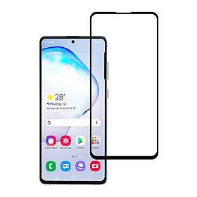 Miếng Dán Kính Cường Lực Cho Samsung Galaxy Note 10 Lite - Màu Đen - Hàng Chính Hãng