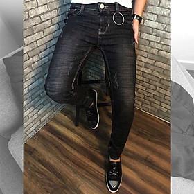 [OFM03R] Quần Jeans Co Giãn Nam Chất Bò Kiểu Dáng Thời Trang Cao Cấp Rách gối Phong Cách Trẻ Trung Sôi Động
